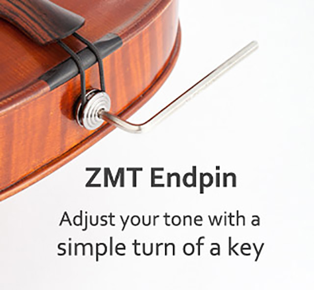 ZMT endpin. Adjust your tone with a simple turn of a key.